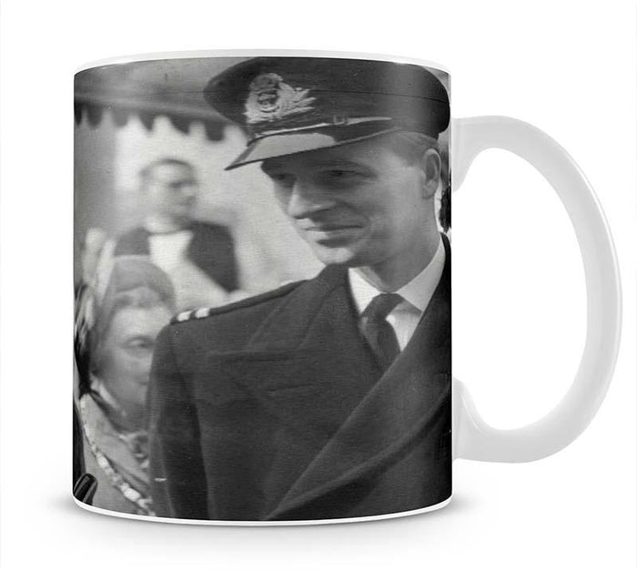 Queen Elizabeth II and Prince Philip touring as young couple Mug