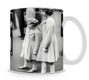 Queen Elizabeth II as a child with her sister in matched outfits Mug - Canvas Art Rocks - 1