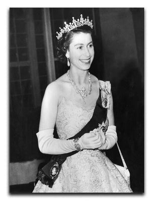 Queen Elizabeth II during her Coronation tour Canvas Print or Poster  - Canvas Art Rocks - 1