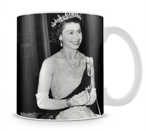 Queen Elizabeth II during her Coronation tour Mug - Canvas Art Rocks - 1