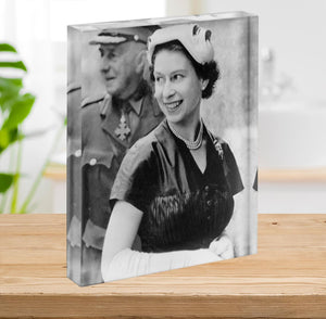 Queen Elizabeth II in Scotland shortly after her coronation Acrylic Block - Canvas Art Rocks - 2