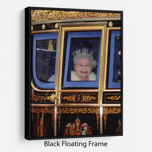 Queen Elizabeth II leaving the State Opening of Parliament Floating Frame Canvas