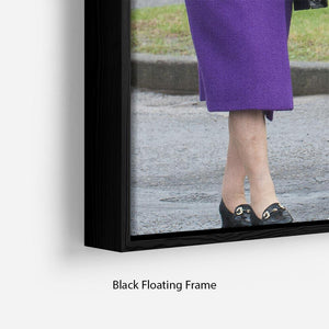 Queen Elizabeth II meeting members of the Household Cavalry Floating Frame Canvas