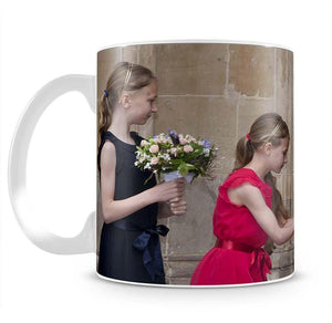 Queen Elizabeth II receiving flowers at a VE Day ceremony Mug - Canvas Art Rocks - 2
