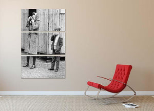 Queen Elizabeth II with a young Prince Edward 3 Split Panel Canvas Print - Canvas Art Rocks - 2
