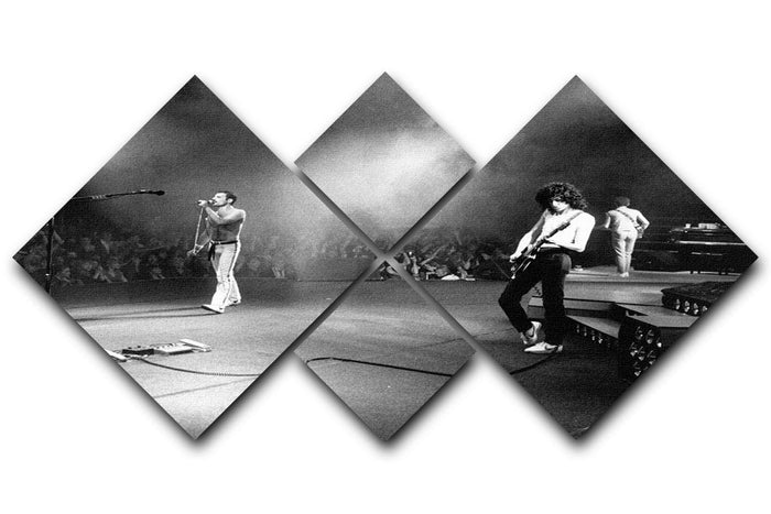 Queen Live 4 Square Multi Panel Canvas