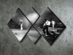 Queen Live 4 Square Multi Panel Canvas - Canvas Art Rocks - 2