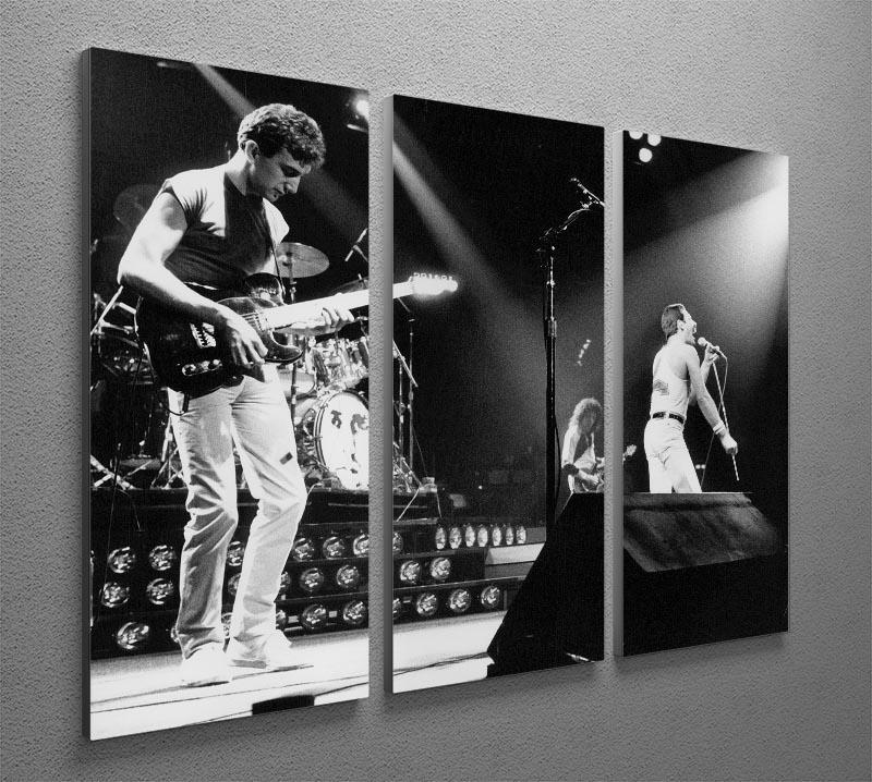 Queen Live On Stage 3 Split Panel Canvas Print - Canvas Art Rocks - 2