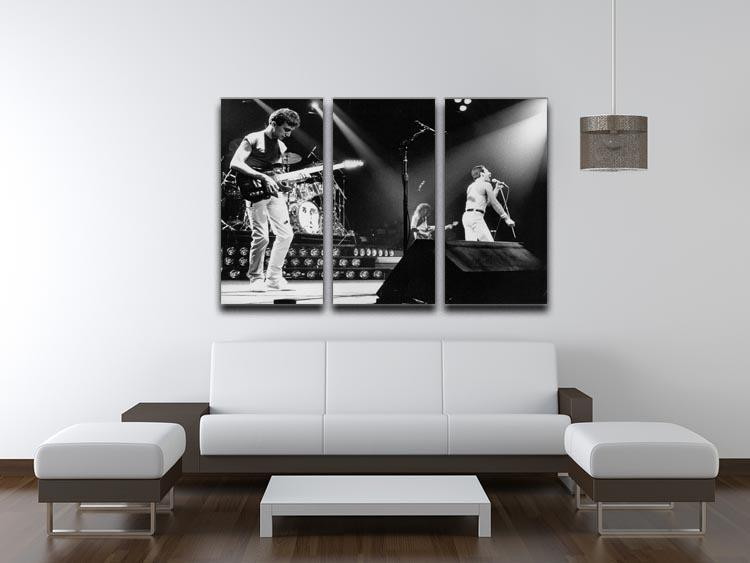 Queen Live On Stage 3 Split Panel Canvas Print - Canvas Art Rocks - 3