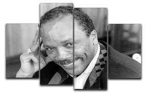 Quincy Jones 4 Split Panel Canvas - Canvas Art Rocks - 1