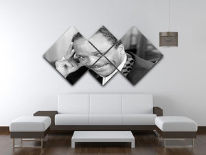 Quincy Jones 4 Square Multi Panel Canvas - Canvas Art Rocks - 3