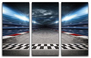 Race Track 3 Split Panel Canvas Print - Canvas Art Rocks - 1