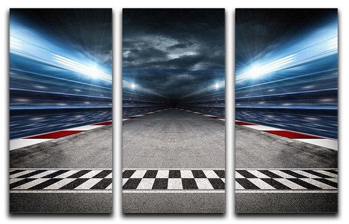 Race Track 3 Split Panel Canvas Print