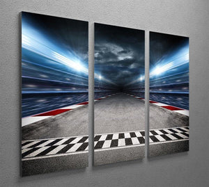 Race Track 3 Split Panel Canvas Print - Canvas Art Rocks - 2