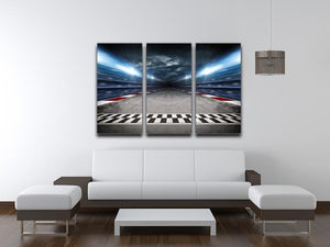 Race Track 3 Split Panel Canvas Print - Canvas Art Rocks - 3