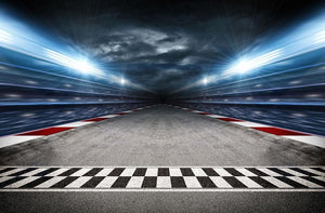 Race Track Wall Mural Wallpaper - Canvas Art Rocks - 1