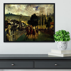 Race at Longchamp by Manet Framed Print - Canvas Art Rocks - 2