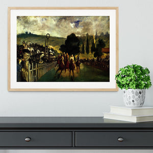 Race at Longchamp by Manet Framed Print - Canvas Art Rocks - 3