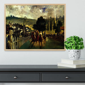 Race at Longchamp by Manet Framed Print - Canvas Art Rocks - 4