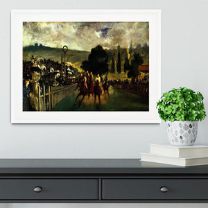Race at Longchamp by Manet Framed Print - Canvas Art Rocks - 5