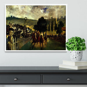 Race at Longchamp by Manet Framed Print - Canvas Art Rocks -6