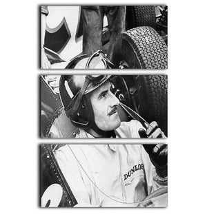Racing driver Graham Hill 3 Split Panel Canvas Print - Canvas Art Rocks - 1