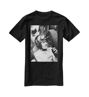Racing driver Graham Hill T-Shirt - Canvas Art Rocks - 1