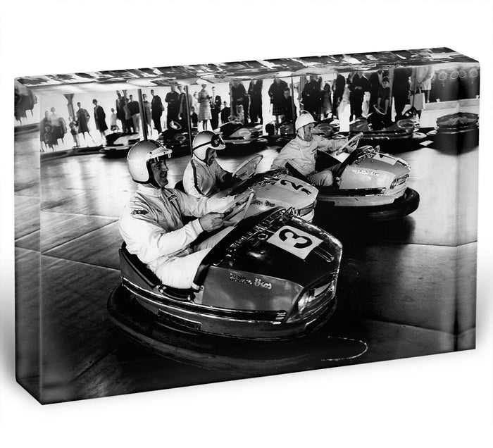 Racing drivers on the dodgems Acrylic Block