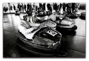 Racing drivers on the dodgems Canvas Print or Poster  - Canvas Art Rocks - 1