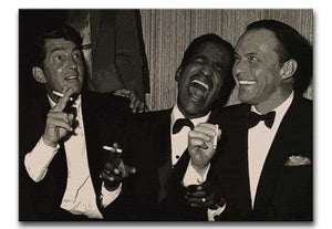 The Rat Pack Rocking With Laughter Print - Canvas Art Rocks - 3
