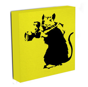Banksy Rat With Camera Canvas Print & Poster - US Canvas Art Rocks