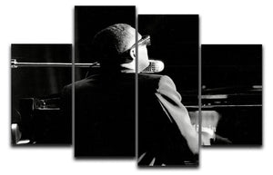 Ray Charles at the piano 4 Split Panel Canvas  - Canvas Art Rocks - 1
