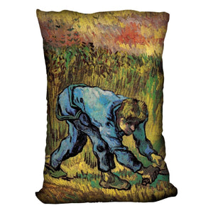 Reaper with Sickle after Millet by Van Gogh Throw Pillow