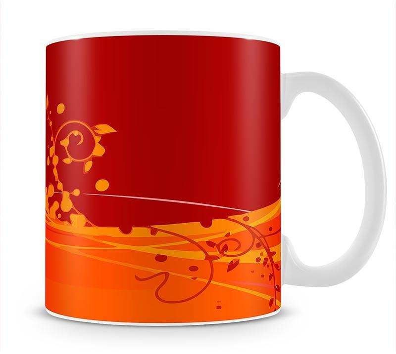 Red Abstract Mug - Canvas Art Rocks - 1