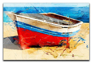 Red Boat Canvas Print or Poster  - Canvas Art Rocks - 1