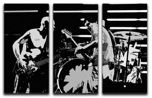 Red Hot Chili Peppers 3 Split Panel Canvas Print - Canvas Art Rocks - 1