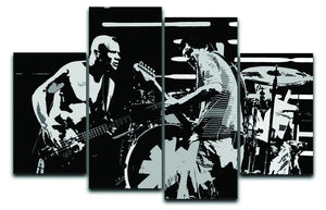 Red Hot Chili Peppers 4 Split Panel Canvas  - Canvas Art Rocks - 1