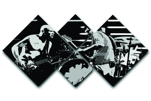Red Hot Chili Peppers 4 Square Multi Panel Canvas  - Canvas Art Rocks - 1