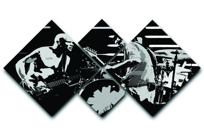 Red Hot Chili Peppers 4 Square Multi Panel Canvas