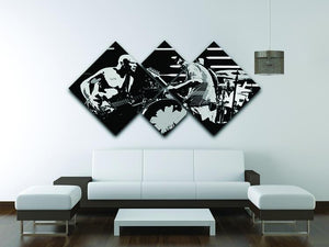 Red Hot Chili Peppers 4 Square Multi Panel Canvas - Canvas Art Rocks - 3