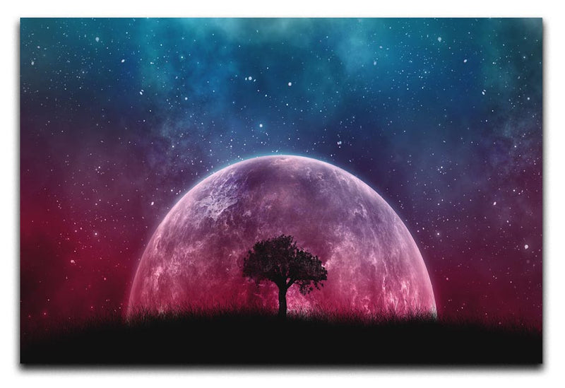 Red Moon Print - Canvas Art Rocks - 1