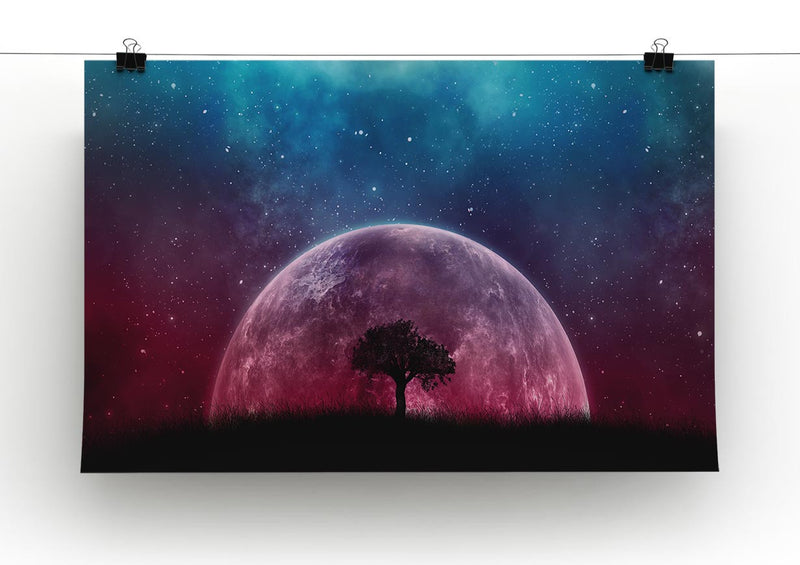 Red Moon Print - Canvas Art Rocks - 2