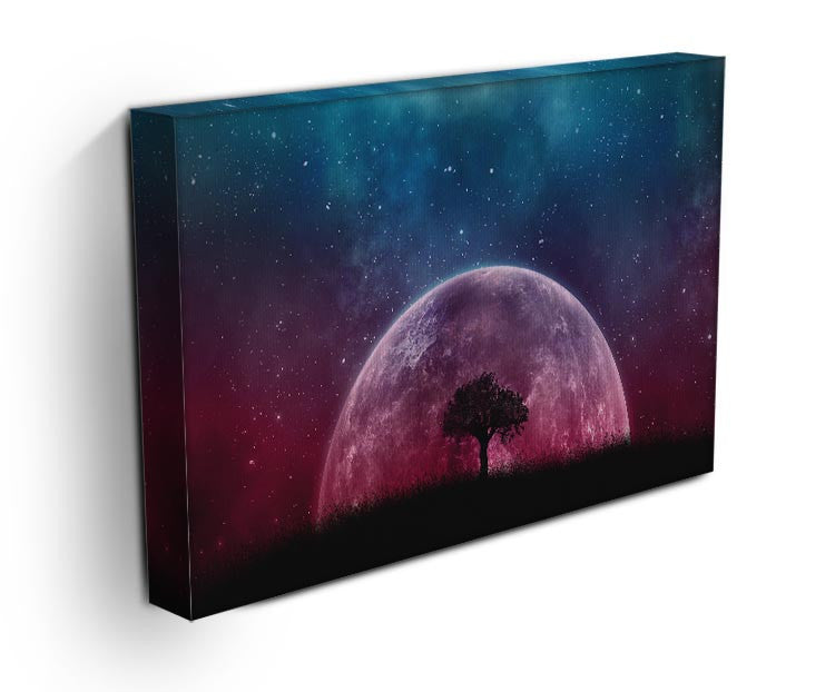 Red Moon Print - Canvas Art Rocks - 3