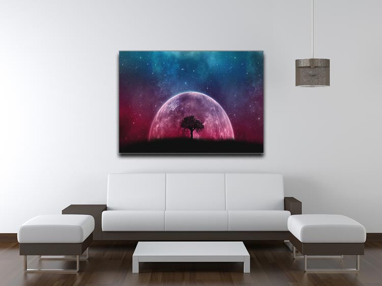 Red Moon Print - Canvas Art Rocks - 4