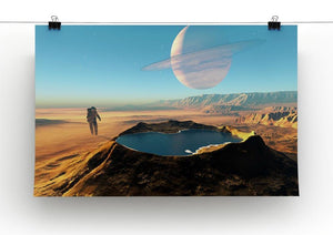 Red Planet Mars Space Walk Canvas Print or Poster - Canvas Art Rocks - 2