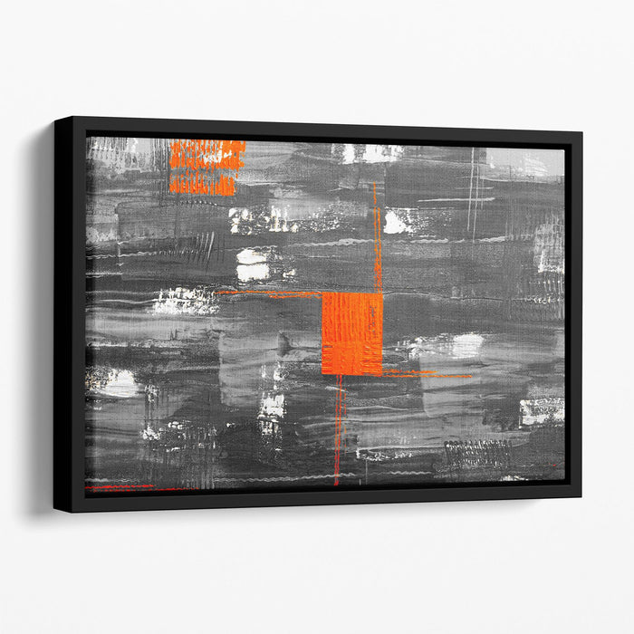 Red Square Floating Framed Canvas