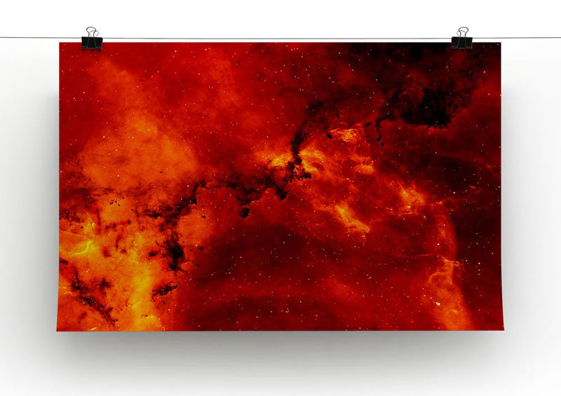 Red Star Print - Canvas Art Rocks - 2