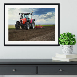 Red Tractor Framed Print - Canvas Art Rocks - 1