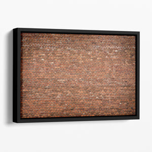 Red brick wall texture Floating Framed Canvas - Canvas Art Rocks - 1