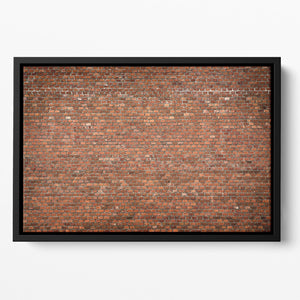 Red brick wall texture Floating Framed Canvas - Canvas Art Rocks - 2